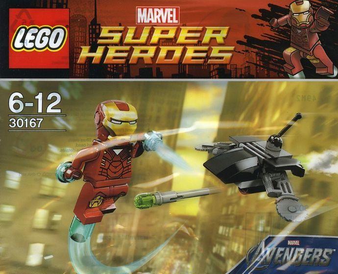 30167  Железный Человек против боевого Дрона Конструктор ЛЕГО Супергерои