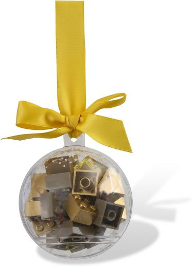 853345 Ёлочная игрушка Шар с золотыми кубиками Конструктор ЛЕГО