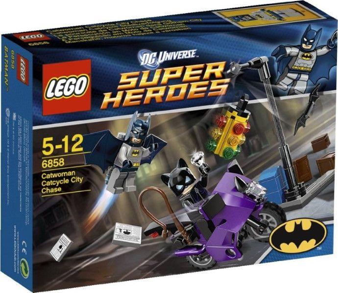 6858 Бэтмен: Погоня за Женщиной-кошкой на мотоцикле Конструктор ЛЕГО Супергерои