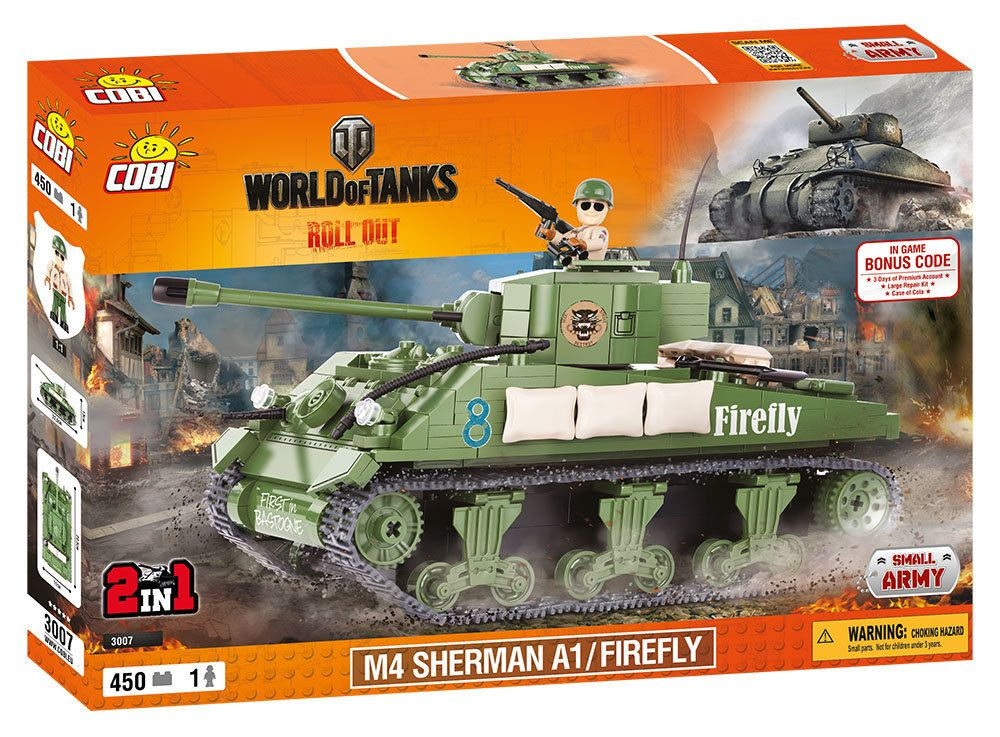 КОБИ World of Tanks - Танк M4 Sherman A1 / Firefly - COBI-3007